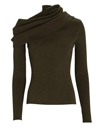 Monse Foldover Turtleneck Sweater | INTERMIX®