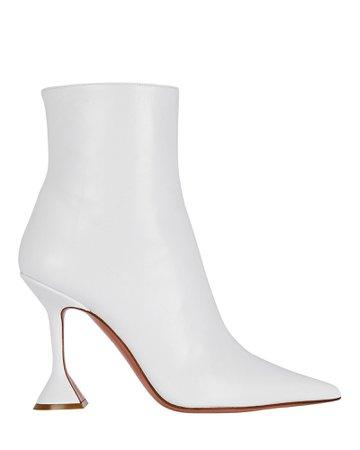 Amina Muaddi Giorgia Leather Ankle Boots   INTERMIX®