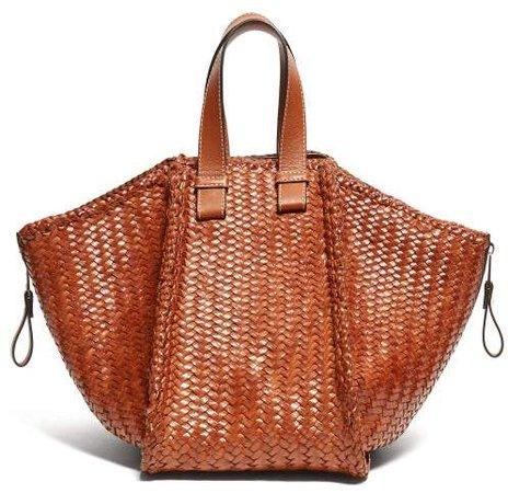 Hammock Small Woven Leather Tote Bag - Womens - Tan