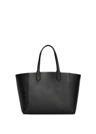 MANGO Pebbled effect shopper bag