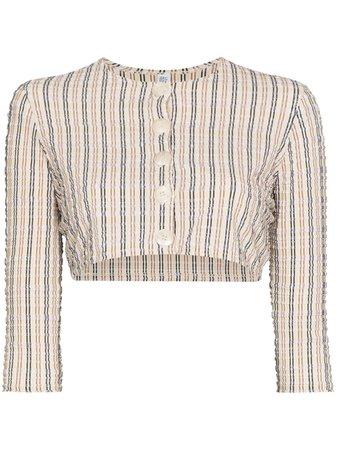 Lisa Marie Fernandez Striped button-up Cropped Blouse - Farfetch