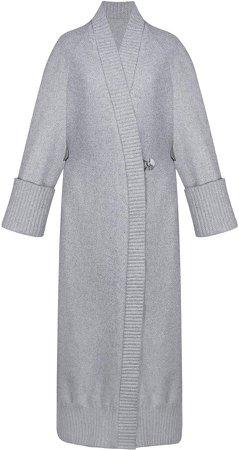 BEVZA Wool Knit Robe Coat