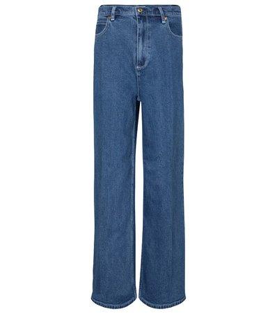 Tory Burch - Jeans anchos de tiro alto | Mytheresa