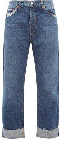 90s Loose Straight Leg Jeans - Womens - Denim