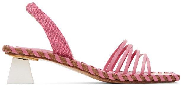 Pink Les Sandales Valerie Heeled Sandals