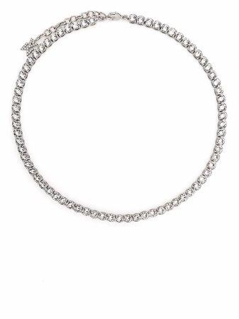 Amina Muaddi Crystal Tennis Necklace - Farfetch