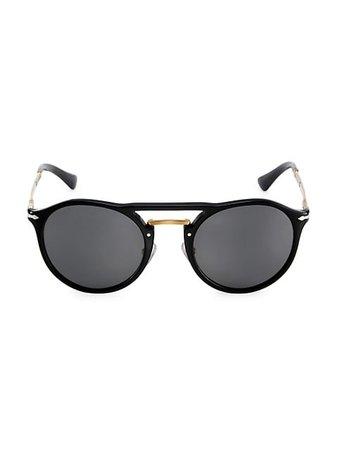 Persol Remick 50MM Round Sunglasses | SaksFifthAvenue