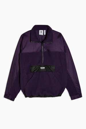 Purple High Neck Top by adidas   Topshop