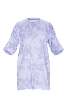 Lilac Tie Dye Oversized Boyfriend T Shirt Dress | PrettyLittleThing