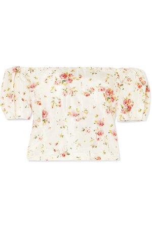 Brock Collection | Boie off-the-shoulder floral-print silk blouse | NET-A-PORTER.COM