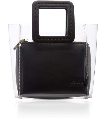 Shirley Mini PVC and Leather Tote