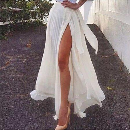 Sheer White Wrap Skirt