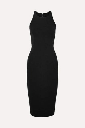 Cotton-blend Cady Dress - Black