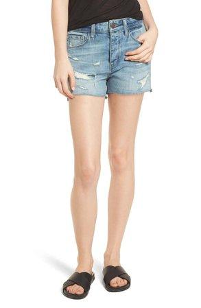 Treasure & Bond High Waist Boyfriend Cutoff Denim Shorts (Gravel Medium Vintage)   Nordstrom