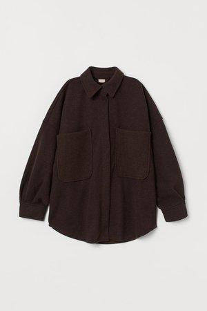 Oversize-Shacket - Braun - Ladies   H&M DE