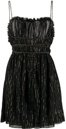 Metallic-Threading Short Dress