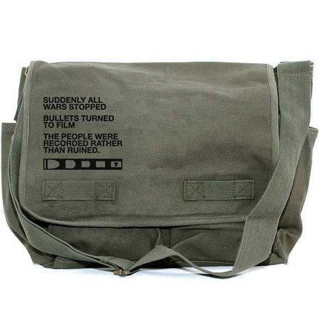 Messenger Bag Film v. Bullet Crossbody Bag Large Canvas