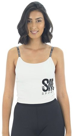 Active Cropped Tank White