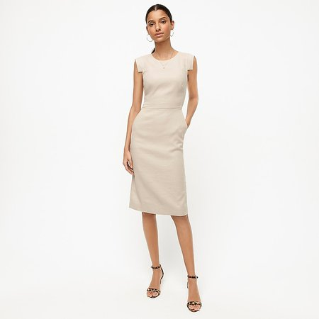 J.Crew: Résumé Dress In Stretch Linen For Women