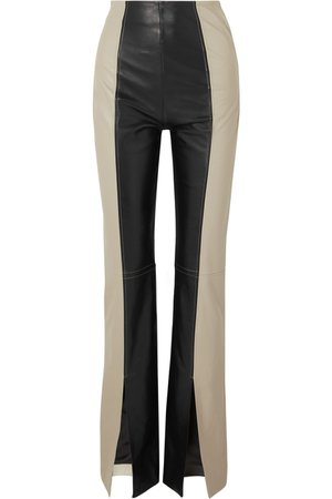16ARLINGTON | Fonda two-tone leather bootcut pants | NET-A-PORTER.COM