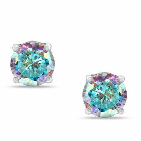 iridescent stud earrings