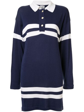 Chanel Pre-Owned Striped Details Polo Dress Vintage | Farfetch.com