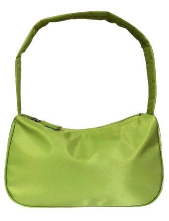 green mini purse