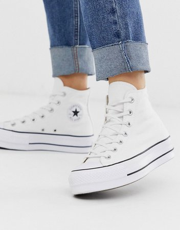 Converse Chuck Taylor All Star Hi Lift sneakers in white | ASOS
