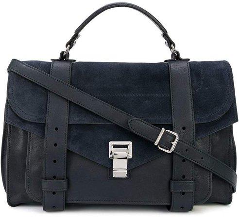 Suede Detail Cross Body Bag