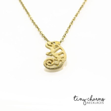 Chameleon Necklace Chameleon Pendant Cute Animal Necklace