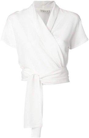 wrap-front blouse