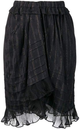 ruffled panel skirt