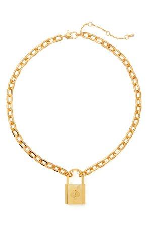 kate spade new york lock & spade pendant necklace