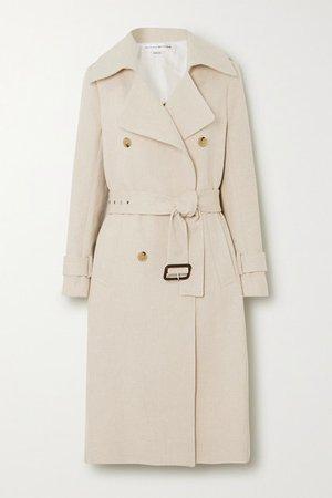 Victoria Beckham   Cotton and linen-blend canvas trench coat   NET-A-PORTER.COM