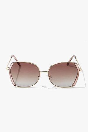 Round Geo Sunglasses   Forever 21
