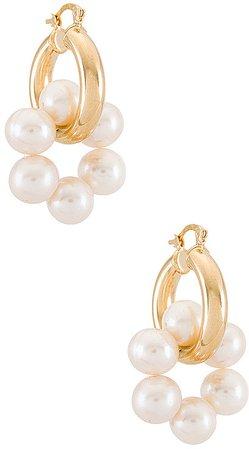 LUNIKA Pearl Hoop Earring