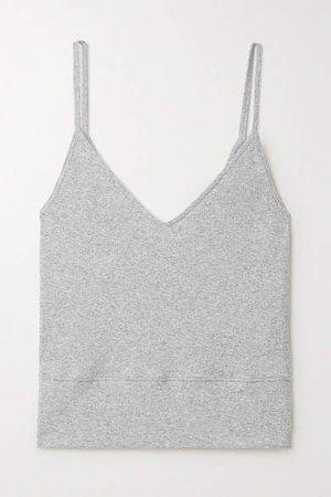 Skin - Nani Ribbed Stretch Pima Cotton And Modal-blend Tank - Gray