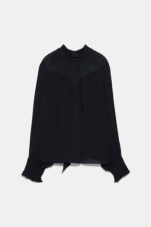 TIED BLOUSE - NEW IN-WOMAN   ZARA United States