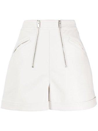 Stella McCartney high-waisted double zip shorts