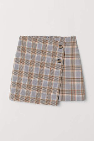 Checked Skirt - Blue