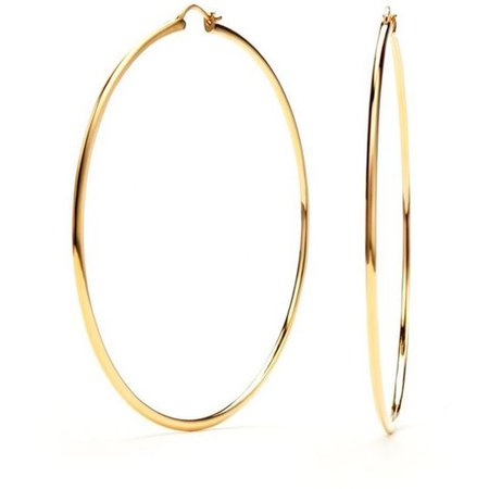 Nadri Gold-Tone Extra Large Hoop Earrings