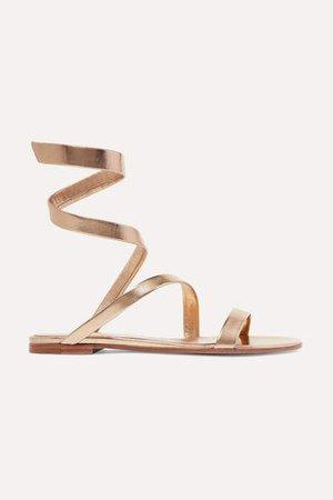 Opera Metallic Leather Sandals - Gold