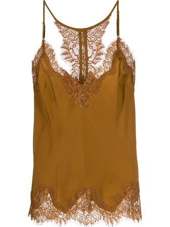 Gold Hawk Lace Trim Slip Top