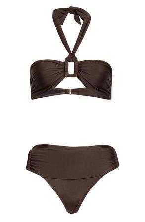 Adriana Degreas Solid Halter Bikini | Nordstrom