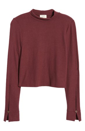 Project Social T Long Sleeve Mock Neck Tee | Nordstrom