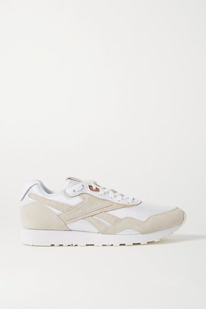 Rapide Mesh, Suede And Leather Sneakers - White