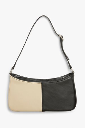 Small hand bag - Beige and black - Bags - Monki GB