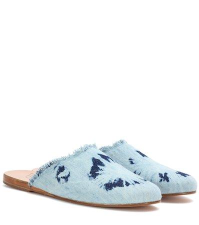 Pasoumi denim slippers