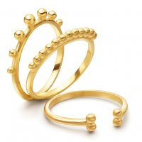 Gold Beaded Stack Ring Set | 18ct Gold Vermeil | Missoma