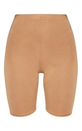 Basic Camel Bike Shorts - Shorts - PrettylittleThing | PrettyLittleThing USA